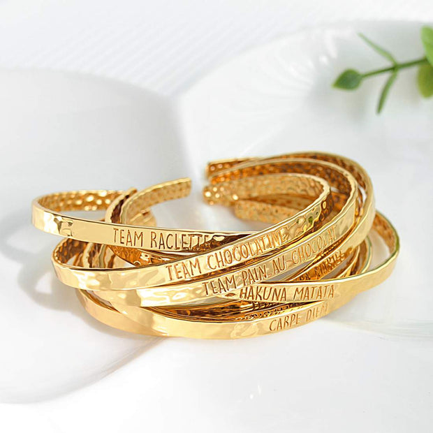 Bangle Carpe Diem - Plaqué Or 18K - Bijoux Majolie