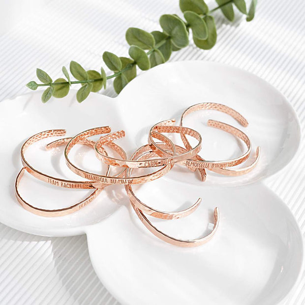 Bangle Demoiselle D'Honneur - Plaqué Or Rose 18K