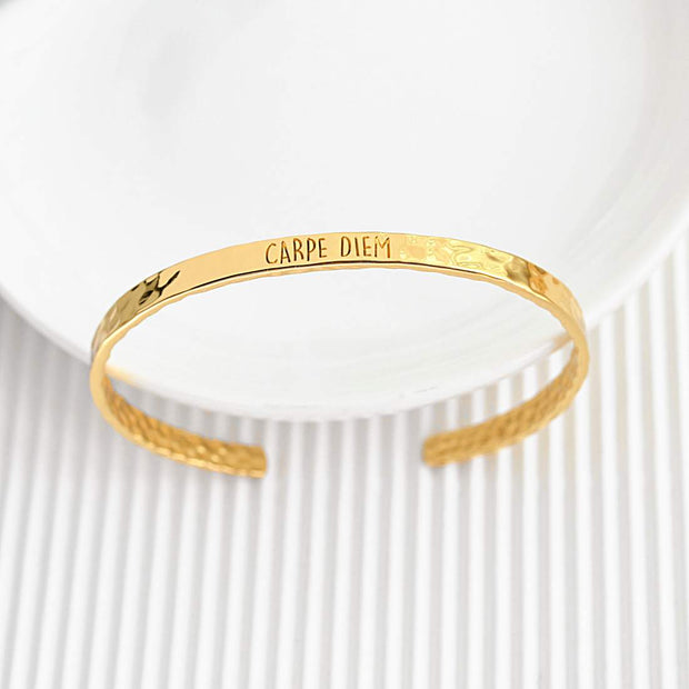 Bangle Carpe Diem - Plaqué Or 18K