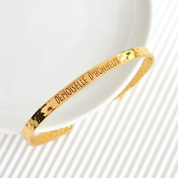 Bangle Demoiselle D'Honneur - Plaqué Or 18K