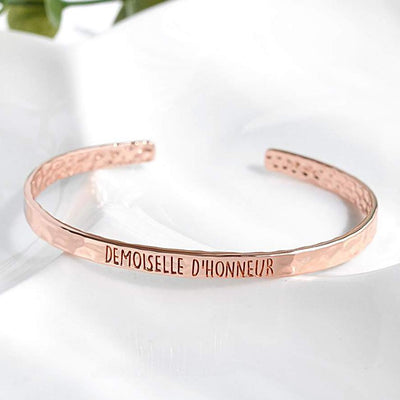 Bangle Demoiselle D'Honneur - Plaqué Or Rose 18K - Bijoux Majolie