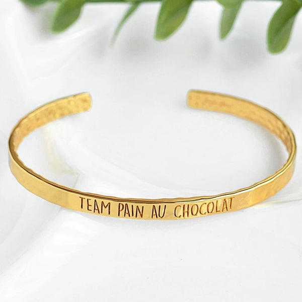 Bangle Team Pain Au Chocolat - Plaqué Or 18K