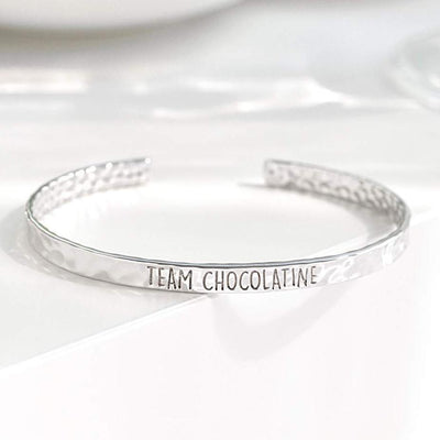 Bangle Chocolatine - Plaqué Rhodium - Bijoux Majolie