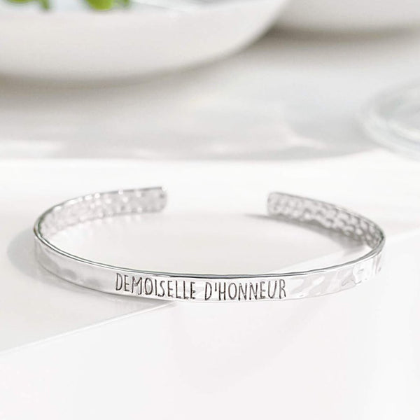 Bangle Demoiselle D'Honneur - Plaqué Rhodium