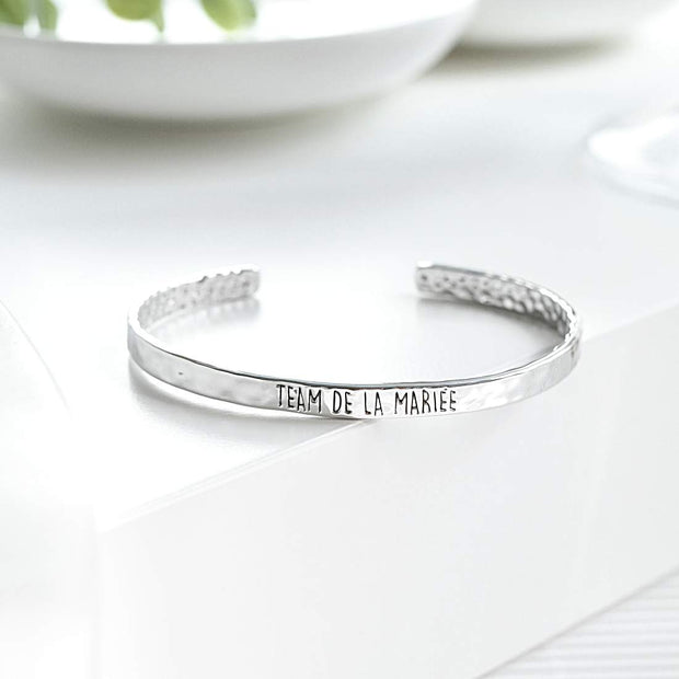 Bangle Team De La Mariée - Plaqué Rhodium