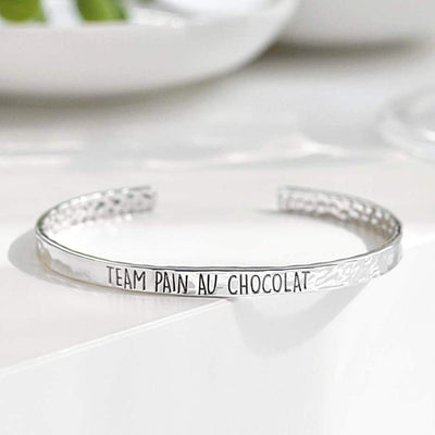 Bangle Team Pain Au Chocolat - Plaqué Rhodium - Bijoux Majolie