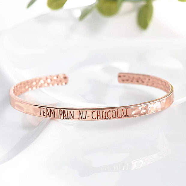 Bangle Team Pain Au Chocolat - Plaqué Or Rose 18K - Bijoux Majolie