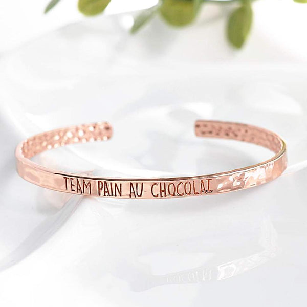 Bangle Team Pain Au Chocolat - Plaqué Or Rose 18K
