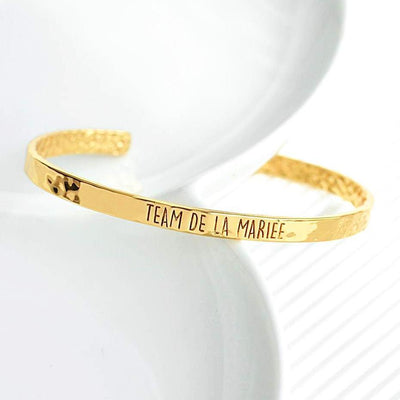 Bangle Team De La Mariée - Plaqué Or 18K - Bijoux Majolie