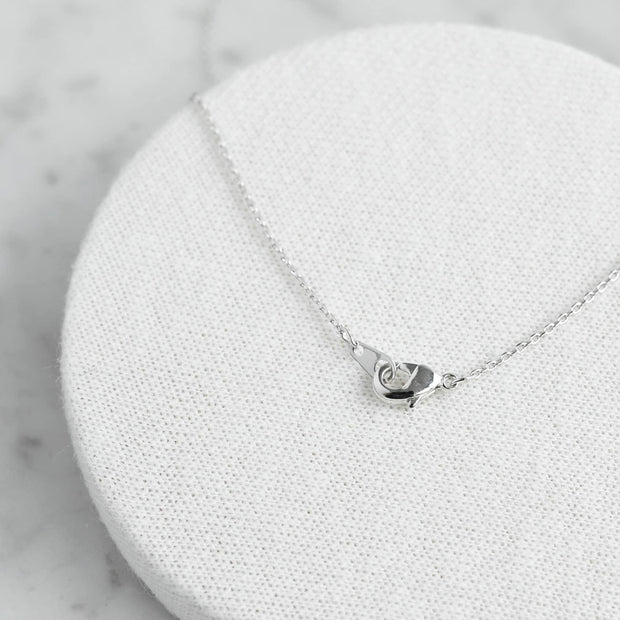Collier Battements de Coeur Diamanté - Argent