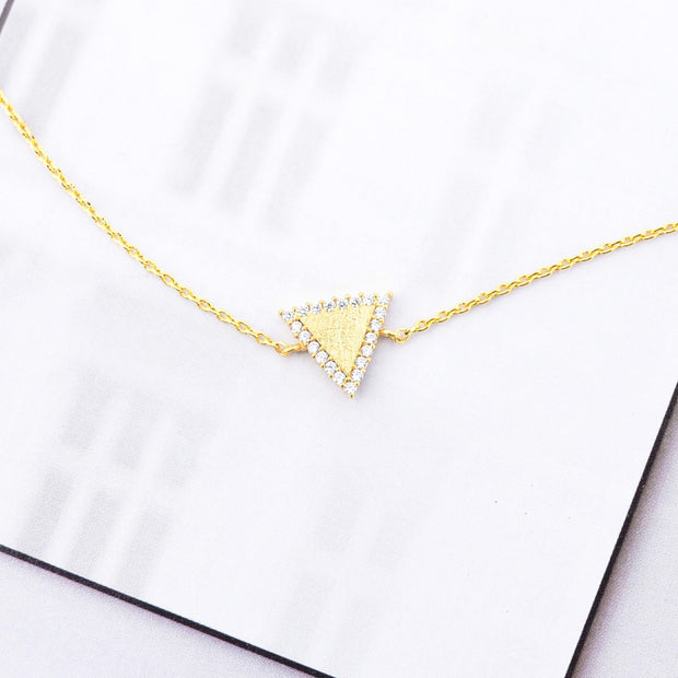 Majolie  - Triangle Diamanté Gold Bracelet -   - 1