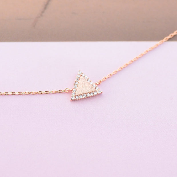 Majolie  - Triangle Diamanté Rose Gold Bracelet -   - 3