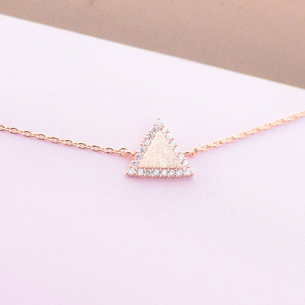 Majolie  - Triangle Diamanté Rose Gold Bracelet -   - 1