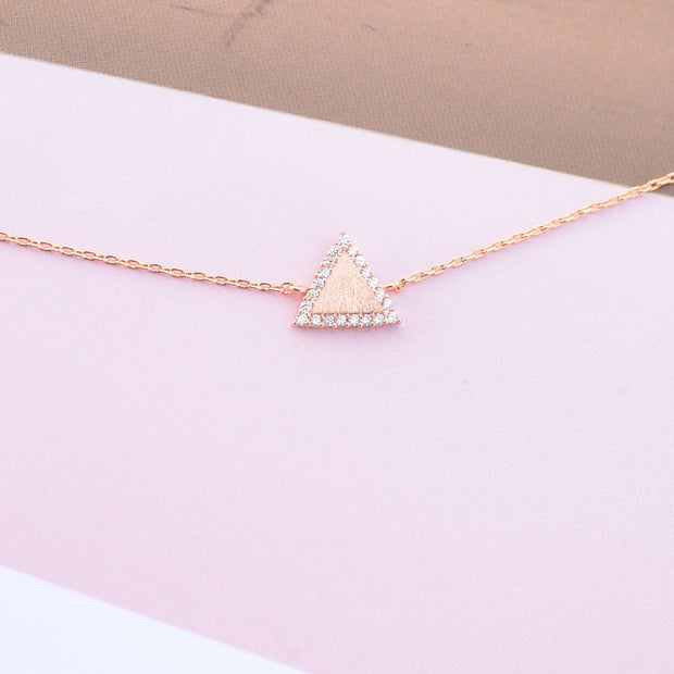Majolie  - Triangle Diamanté Rose Gold Bracelet -   - 5