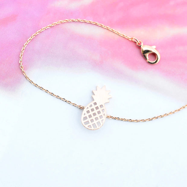 Majolie  - Pineapple Rose Gold Bracelet -   - 3