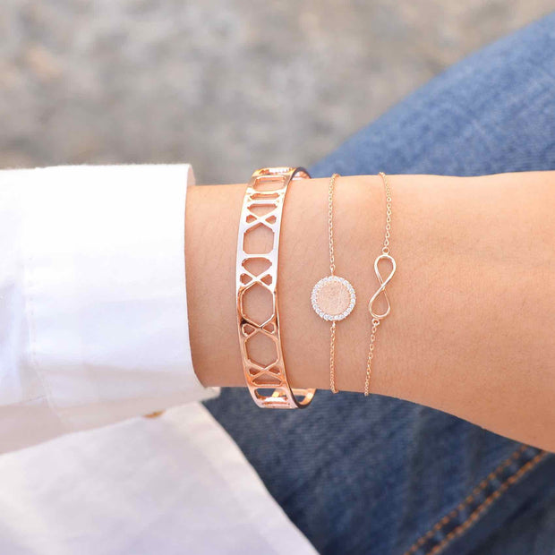Cercle Diamanté Rose Gold Bracelet - Majolie