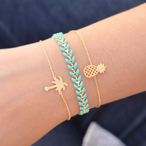 Majolie  - Pineapple Gold Bracelet -   - 3