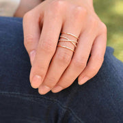 Majolie  - Sia Rose Gold Ring -   - 2