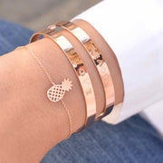 Majolie  - Pineapple Rose Gold Bracelet -   - 1