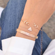 Majolie  - Triangle Diamanté Rose Gold Bracelet -   - 2