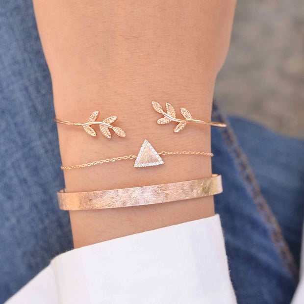 Majolie  - Triangle Diamanté Rose Gold Bracelet -   - 4