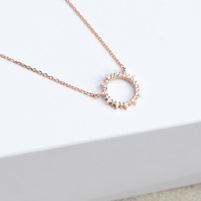 Collier Soleil - Or Rose