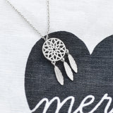 Dreamcatcher Silver Necklace - Majolie