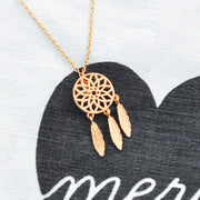 Dreamcatcher Rose Gold Necklace - Majolie