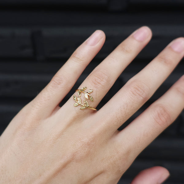 Majolie  - Laurier Ring Gold -   - 1