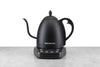 variable temperature black gooseneck electric kettle from bonavita