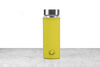 green neoprene protector on glass flask infuser