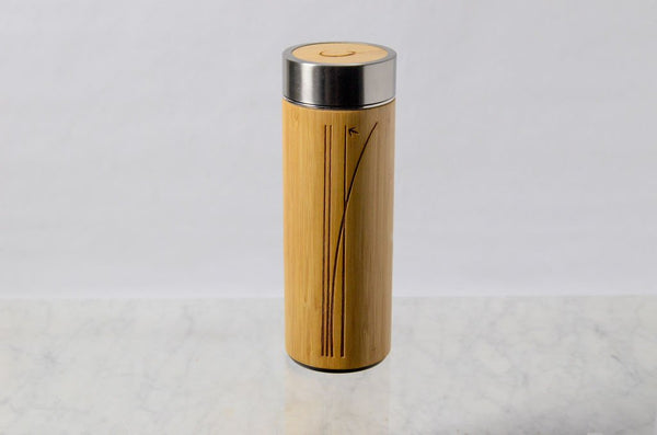 Bamboo Wrapped Tea Flask