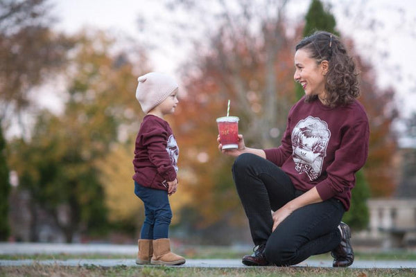 Youth & Petite High Steeps Sweatshirt in Burgundy