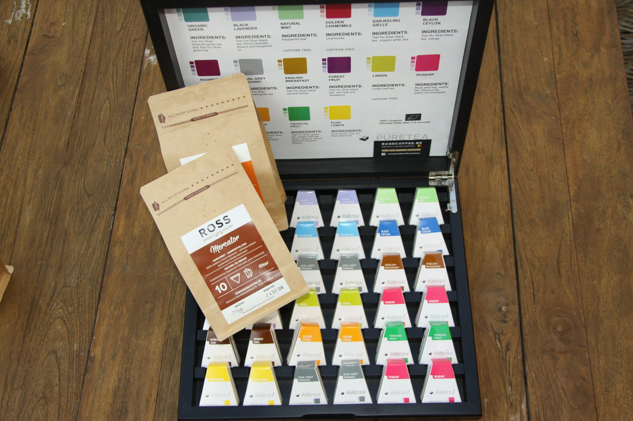 Sjiek ROSS Coffee en Pure Tea (18) cadeaupakket
