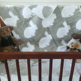 Benny Bunny Baby Blanket (Dove Grey/Duck Egg)