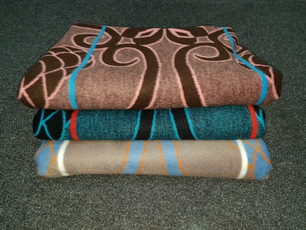 Khotso Basotho Blanket (Pink and Brown, Blue Stripe)