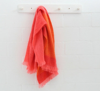 Coral Luxury Mohair Blanket