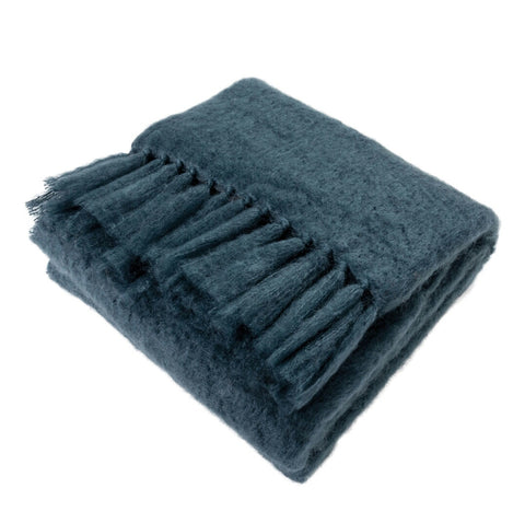 Natural Elegance Kid Mohair Blanket (Mallard Blue)