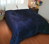 Plain Luxury Blueberry Blanket