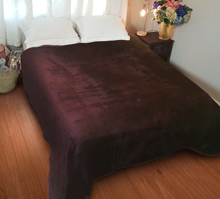Plain Luxury Chestnut Blanket