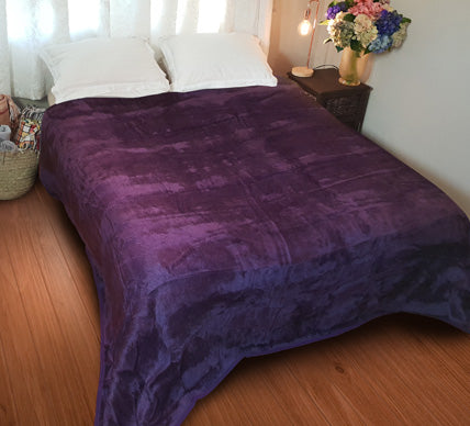 Plain Luxury Plum Blanket