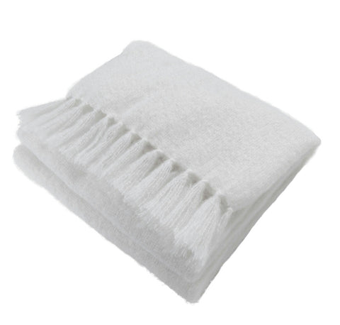 Natural Elegance Kid Mohair Blanket (White Night)