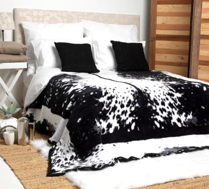 Black Nguni Luxury Blanket  -  Blankets and Weaves - 1