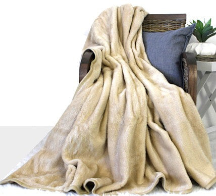 Plain Luxury Blanket Bone  -  Blankets and Weaves - 1