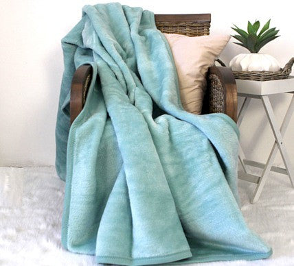 Plain Luxury Blanket Eggshell  -  Blankets and Weaves - 1