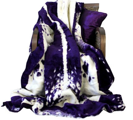 Purple Nguni Luxury Blanket