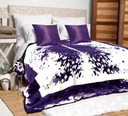 purple and cream nguni blanket