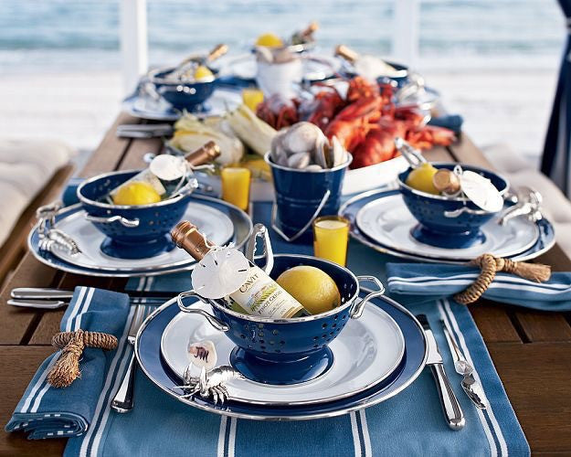 WY Entertaining: Cape Cod Inspired Table Setting