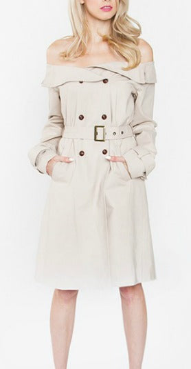 London Off Shoulder Trench Coat