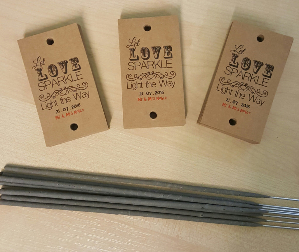 Let Love Sparkler and Light The Way for Mr & Mrs Noble Who Bought our Sparkler Tags